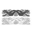 ancient celtic mythological symbol of wolf dog vector image vector image