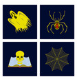 Assembly flat zombie men ghost spider