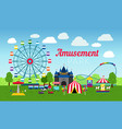 attractions park design vector image