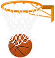 basketball hoop and ball vector image vector image