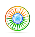 beautiful creative indian flag design vector image vector image