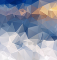 blue snow mountains polygonal triangular pattern vector image vector image