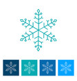 blue snowflake new year icon vector image vector image