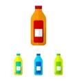 Bottle flat icons set vector image vector image