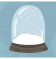 Bright of hand drawn snow globe vector image vector image