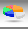 business diagram graph infographic vector image vector image