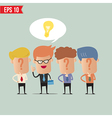 Business man with idea concept - - EPS10 vector image vector image