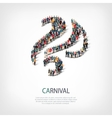 carnival people sign 3d vector image
