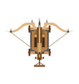 catapult icon medieval war weapon old white vector image vector image