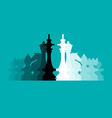 chess pieces flat design background vector image