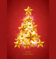 christmas and new years red background with vector image vector image