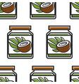 coconut butter in jar seamless pattern cosmetics vector image vector image