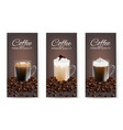 coffee advertising flyer set realistic vector image vector image