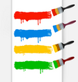 colorful paint brushes vector image
