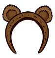cute bear ears headband on white background vector image vector image
