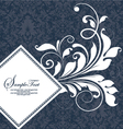 damask wedding card vector image vector image