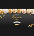 easter day banners template easter eggs gold vector image