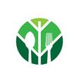 food natural health organic logo vector image
