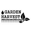 garden harvest symbol vector image vector image
