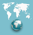 globe and world map vector image vector image