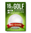 golf poster golf ball vertical design for vector image