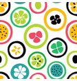grunge slice fruits seamless pattern vector image