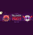 halloween party poster with sweet kawaii donuts vector image
