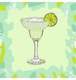 hand drawn of cocktail daiquiri vector image