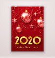 happy new year 2020 background with shining vector image vector image