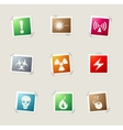 Hazard icons set vector image