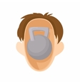 Head with kettlebell icon cartoon style vector image vector image