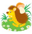 hedgehog with a mushroom vector image