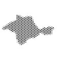 honeycomb crimea map vector image vector image
