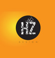 hz h z logo made of small letters with black vector image vector image
