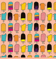 ice cream pattern with pink background vector image