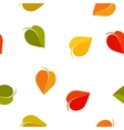 Isolated abstract colorful leaves background vector image