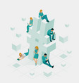 isometric social network hashtag or hashtag vector image vector image