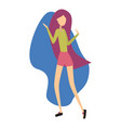 modern girl dancing and having fun at a party vector image vector image