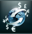 money transfer global currency stock exchange vector image vector image
