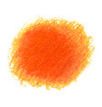 orange crayon scribble texture stain isolated on vector image vector image