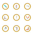 orthopedic icons set cartoon style vector image vector image