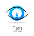 Paris with love vector image vector image