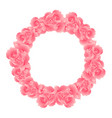pink carnation flower wreath vector image vector image