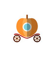 pumpkin fairy carriage for princess riding a ball vector image vector image