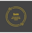 Quote blank template vector image vector image