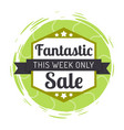 sale this week only logotype with ribbon vector image vector image