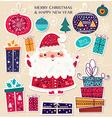 Santa toys vector image vector image