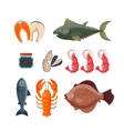 Sea food vector image