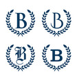 set letter b vector image