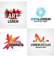 Set of modern colorful abstract logo emblem vector image vector image